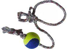 Brinquedo dental bone A com 1 bolade tenis e corda - LCM - 540mm - bola revestida com la
