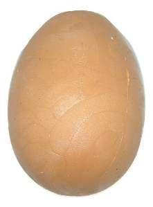 Brinquedo ovo de avestruz macico de borracha - Furacao Pet - 8x6x6cm