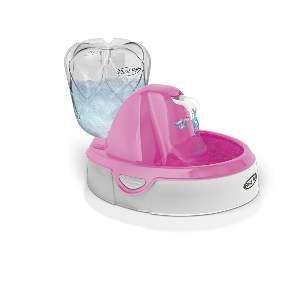 Fonte plastica ligth para caes e gatos rosa 220V - Plast Pet - 31,8x24,6x22,8cm