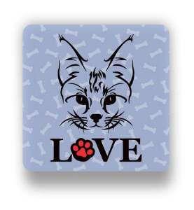 Ima love cat lilas - Tatuagem Mania - 8x8cm