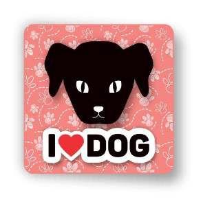 Ima 3D i love dog - Tatuagem Mania - 8x8cm