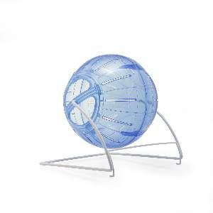 Bola plastico para hamster 4 em 1 com suporte - Savana - 12x14cm