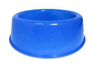 Comedouro plastico pata/osso azul 450ml - Club Still Pet - com 12 unidades - 18,3 x 5cm