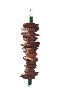 Brinquedo madeira bastao casca - Club Still Pet - 7 x 1,2 x 29,5cm
