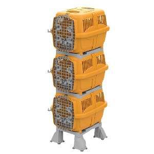 Móvel plast canil/gatil kennel club laranja - Plast Pet - 80x59x185cm
