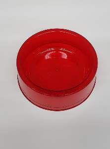 Comedouro plastico com glitter vermelho 1900ml - Pet Toys - 22x8cm