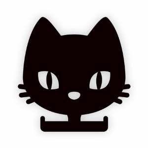 Porta coleira madeira black cat - Tatuagem Mania - 15x15cm