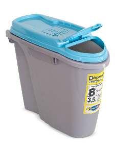 Porta Ração Dispenser Home - Plast Pet - 25 L - Azul