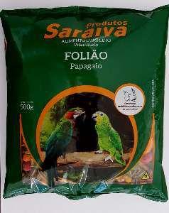 RACAO FRUTAS FOLIAO P/PAPAGAIO 10UNX500G P*0