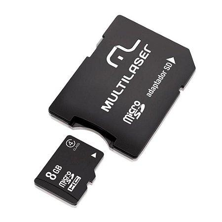 CARTÃO DE MEMÓRIA MICRO-SD 8GB + ADAPTADOR