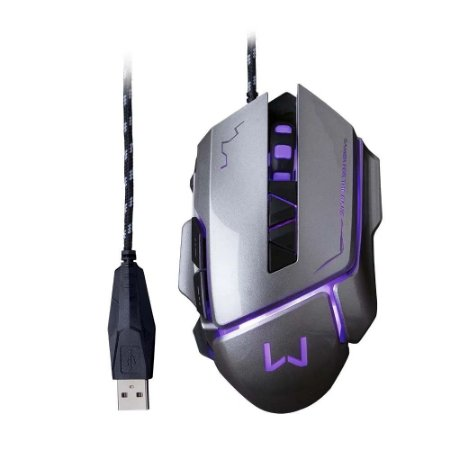 MOUSE GAMER USB WARRIOR 3.200 DPI GRAFITE