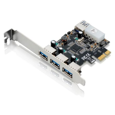 PLACA PCI  EXPRESS USB 3.0 COM 3 PORTAS FRONTAIS