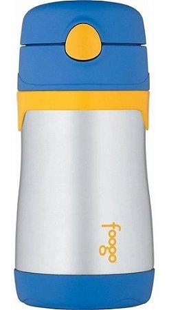 Garrafinha Térmica Foogo 290ml Azul e Amarelo