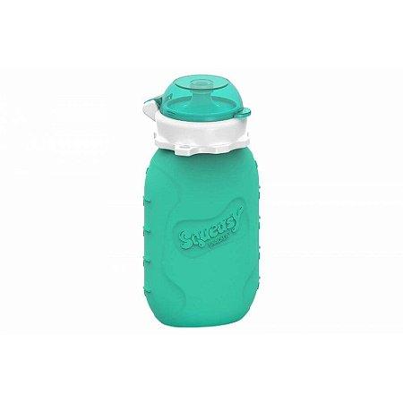 Garrafinha de Silicone Squeasy Baby Acqua Verde 180ml