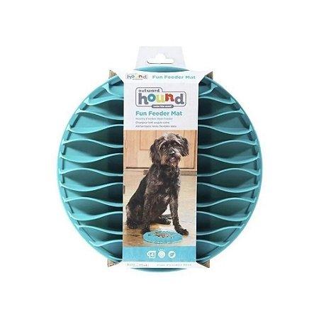 Comedouro Lento Para Cães Fun Feeder Mat Azul G