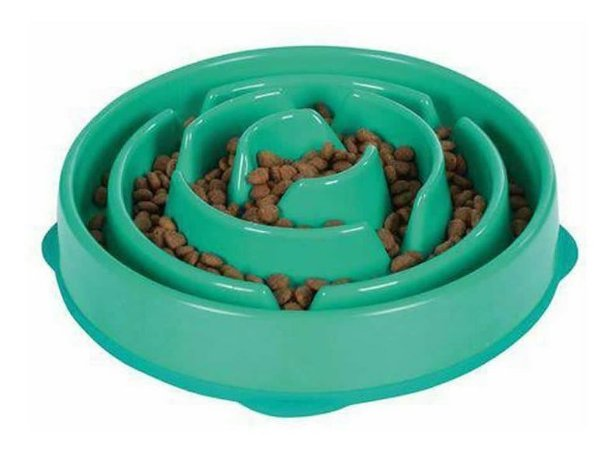 Comedouro Lento Fun  Feeder  Cães Outward Hound Mini Verde