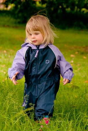 Capa de Chuva All in One Navy/Violet 18-24 meses Hippychick