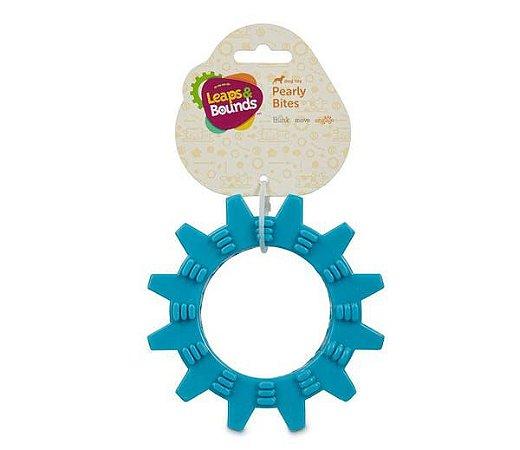 Brinquedo para Cães Mordedor Roda com Texturas Azul