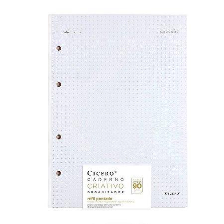 Refil Pontado Caderno Criativo 90g/m² Cicero