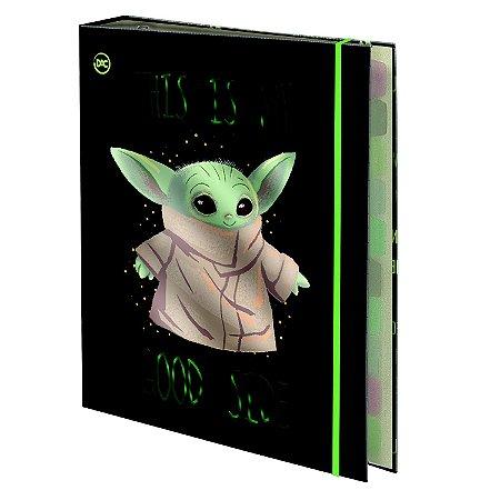 Fichário Universitário Baby Yoda DAC (48 Folhas)