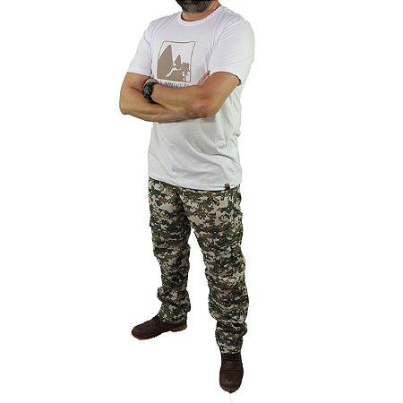 Camiseta Zk Adventure Estampa Branca Masculina