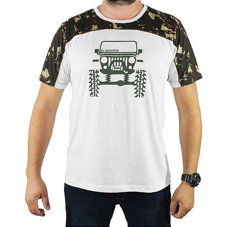 Camiseta Zk Adventure Camuflada Branca Masculina