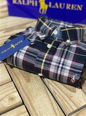 Camisa Ralph Lauren Masculina Custom Fit Plaid Coloured