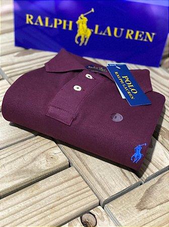 Camisa Polo Ralph Lauren Custom-Fit Vinho