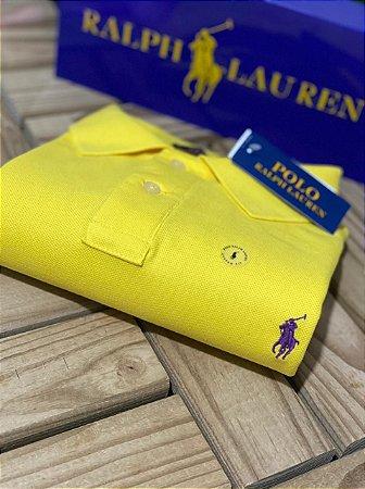 Camisa Polo Ralph Lauren Custom-Fit Amarela