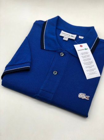 Camisa Polo Lacoste Croc Limited Edition Azul Bic