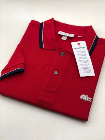 Camisa Polo Lacoste Croc Limited Edition Vermelho