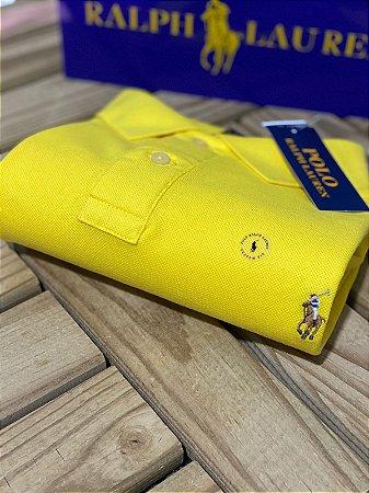 Polo Ralph Lauren Masculina Custom-Fit Coloured Amarela