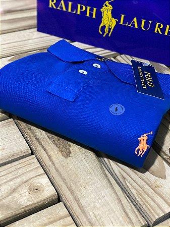 Polo Ralph Lauren Masculina Custom-Fit Royal