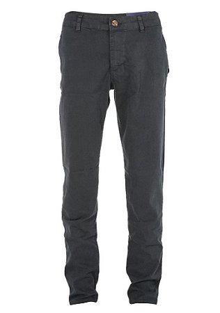 Calça Ralph Lauren Masculina de Sarja Chino Stretch Slim Fit Chumbo