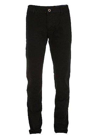 Calça Ralph Lauren Masculina de Sarja Chino Stretch Slim Fit Preta