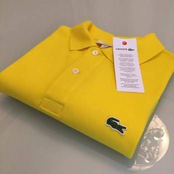 Camisa Polo Lacoste  Croc Bordado Amarela