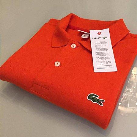 Camisa Polo Lacoste Classic Laranja