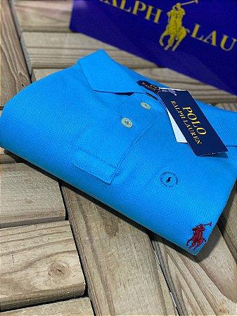 Polo Ralph Lauren Masculina Custom-Fit Azul
