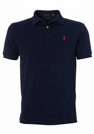 Camisa Polo Ralph Lauren Custom-Fit Azul marinho