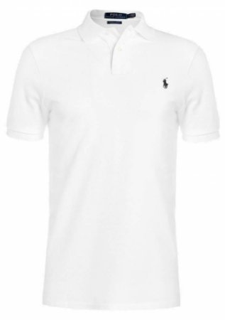 Camisa Polo Ralph Lauren Custom-Fit Branca