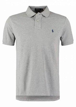 Camisa Polo Ralph Lauren Custom-Fit Cinza