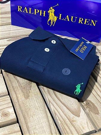 Polo Ralph Lauren Masculina Custom-Fit Azul marinho