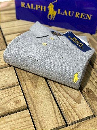 Polo Ralph Lauren Custom-Fit Masculina Cinza