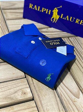 Camisa Polo Ralph Lauren Custom-Fit Azul bic