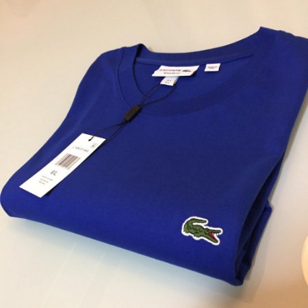 Camiseta Lacoste Basic Croc Bordado Azul royal