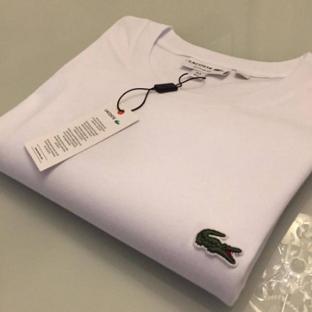 Camiseta Lacoste Basic Croc Bordado Branca