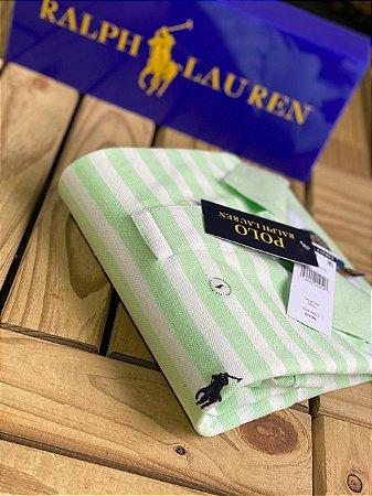 Camisa Polo Ralph Lauren Striped Verde