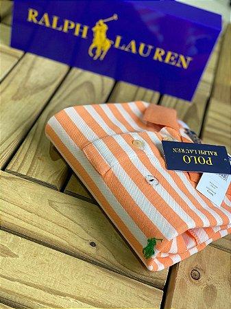 Camisa Polo Ralph Lauren Striped Laranja