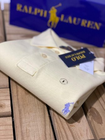 Camisa Polo Ralph Lauren Custom-Fit Amarelo claro