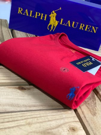 Camiseta Ralph Lauren Basic Custom-Fit Vermelha